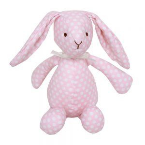 Bitbit the rabbit floppy toy in blush