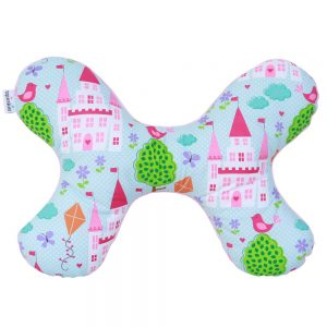 Butterfly Pillow in Pink Castles