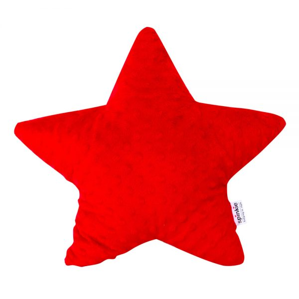Star Pillow in Red