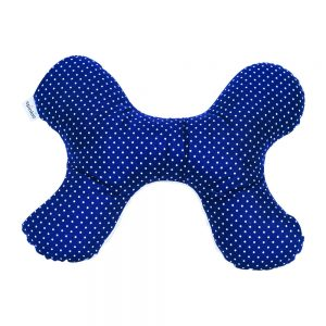 Butterfly Pillow in Navy Dot