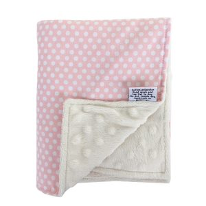 Baby Blankie in Blush Dots