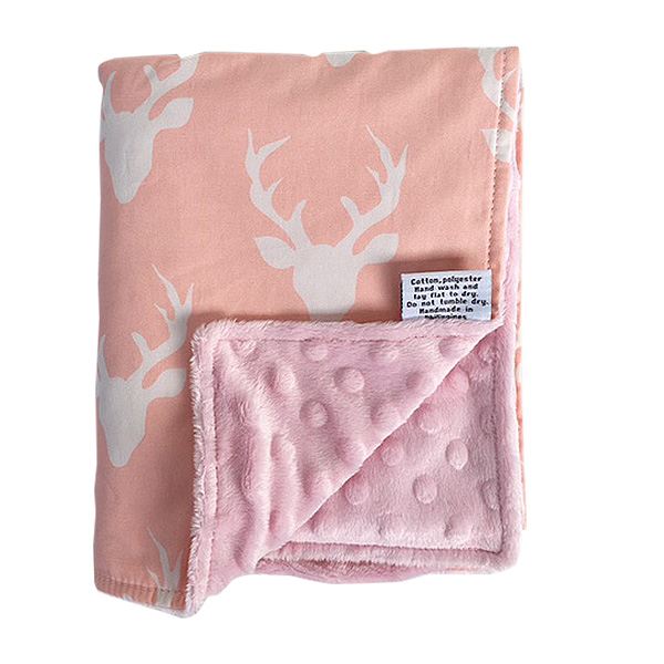 Baby Blankie in BUCK FOREST PINK