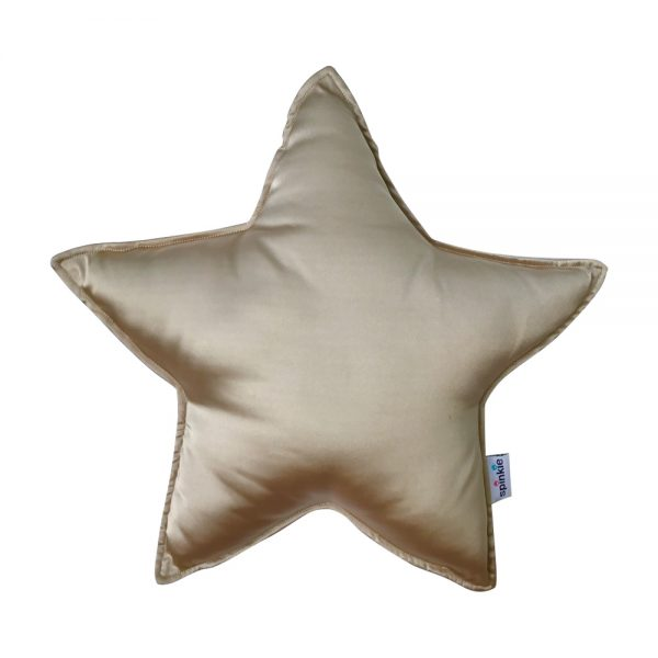 Star Pillow Pale Gold