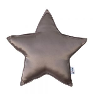 Star Pillow in Rose Brown